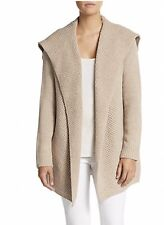 VINCE HONEYCOMB KNIT SWEATER COAT YAK & WOOL $395 Medium Oatmeal Excellent