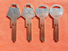 4 DODGE PLYMOUTH CHRYSLER MOPAR NOS KEY BLANKS 69-89