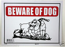 "BEWARE OF DOG  9""X12"" SIGN OFFICE STORE BUSINESS SHOP NO ADMITTANCE KEEP OUT"