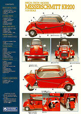 Messerschmitt KR 200 1/24th Scale Model Parts Sheet 8 x 10  Giclee print
