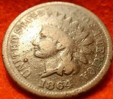 1864 L KEY Indian Head Nice grade Great details No reserve  .  .  .