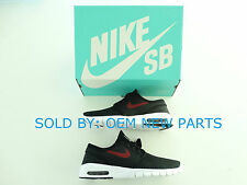 NIKE SB Stefan Janoski Max 631303060 Black/Team Red-White Size 10.5 Brand New