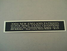 New England Patriots Super Bowl 39 Nameplate For A Football Jersey Case 1.5 X 8