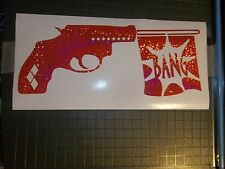 Harley Quinn Gun BANG Sticker Decal HOLOGRAPHIC