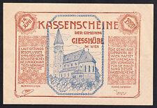 Giesshübl (NÖ) -Gemeinde- Großer Kuponschein ohne Auflagenbez. (JP 235 a)