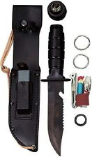 Survival Knife Rothco Black Camping Hunting Tactical Survival Knife Kit 3230