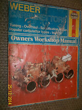 WEBER CARBURETTORS HAYNES WORKSHOP MANUAL DFT DAF DCD IDA IDS IDAP DGAV +  1979