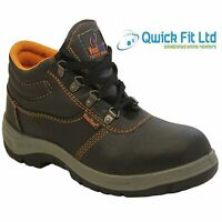 MENS LEATHER CHUKKA BOOTS SAFETY WORK HIKER SHOES TRAINERS STEEL TOE CAP SIZES