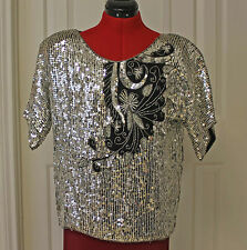 Vintage Jean for Joseph Le Bon Sequin Top Dinner Party Wear