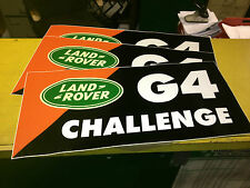 G4 CHALLENGE LAND ROVER  BONNET STICKER CORRECT SIZE 1 ONLY