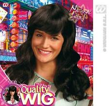 LONG BLACK WAVEY WIG WITH FRINGE KATY PERRY