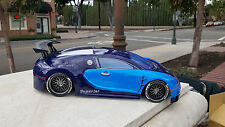 200mm Bugatti Custom Paint Sprint2 TT01 Lipo HPI Body 1/10 Drift Nitro MST