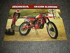 NOS HONDA CR 250 RA 1980 SALES BROCHURE VINTAGE ELSINORE RED ROCKET