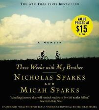 3 Weeks with My Brother - Micah & Nicholas Sparks (2015, CD) A Memoir 8 CDs