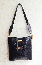 CROCODILE BUCKET BAG GENUINE LEATHER MADE IN ITALY 1960s