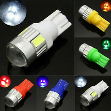 1Pair T10 6 Smd 5630 Chip Car Led Lens Indicator Wedge Dome Light Bulb Lamp ZON