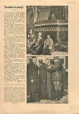Article Boxe Boxeurs Boxing / Incendies des Nouvelles Galeries 1938 ILLUSTRATION