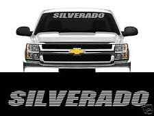 """SILVERADO WINDSHIELD BANNER 36""""X4"""" CHEVROLET 4X4 TRUCK STICKER DECAL UNIVERSAL"""