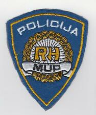 REPUBLIC of CROATIA  REGULAR POLICE MUP RH - sleeve patch vintage - Rarre !