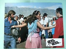 CHUCK NORRIS DAVID CARRADINE PHOTO EXPLOITATION LOBBY CARD OEIL POUR OEIL...