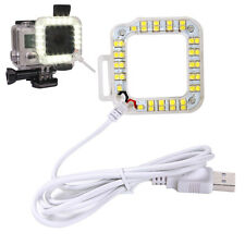 USB LED Ring Fill Night Light Waterproof Cover for Gopro Hero 4 3+ 3 Accessories