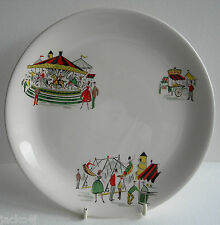 "NICE VINTAGE ALFRED MEAKIN CAROUSEL / FAIRGROUND 9"" SALAD / LUNCHEON PLATE"