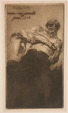 Listed French Artist Edgar Chahine, Original Etching