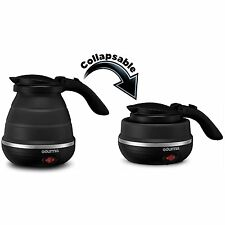 Gourmia GK320B Travel Foldable Electric Kettle - Dual Voltage - Food Grade for &