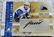 11/12 ITG Heroes & Prospects Tomas Jurco Saint John Rookie Card Auto Red Wings