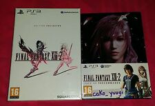 FINAL FANTASY XIII-2 EDITION COLLECTOR PS3 NEUF SOUS BLISTER + STEELBOOK PRECO