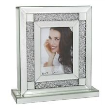 New Large Swarovski Crystal Filled 5x7 Picture Photo Frame Christmas Silver