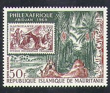 Mauritania 1969 Palm Trees/Forest/S-on-S/Stamp-on-Stamp/Camel/StampEx 1v n37556