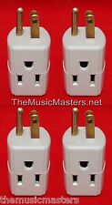 4X Triple 3 Outlet Grounded AC Wall Plug Power Splitter 3-Way Electric Adapter