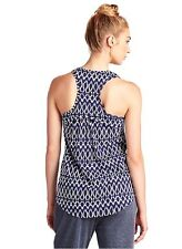 Lucky Brand - XL - NWT - Blue Shibori Ink Geometric Batik Knit Tank Top