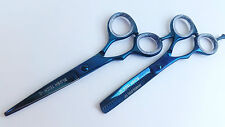 "5.5"" left hand gift pair professional hairdressing & thinning scissors salon cut"