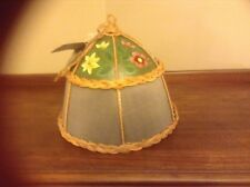 TRACY PORTER NEW ALOUETTE DOME WICKER SCREEN PLATE SAVER HAND PAINTED FLOWERS