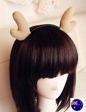 XMAS Women Girls Kid Christmas Deer Antler Costume Ear Party Hair head band Prop