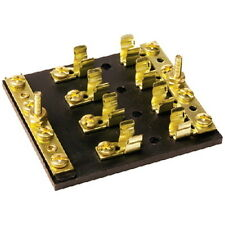 4 Gang SFE, AGC or MDL Fuse Block with Negative and Positive Common Bus Bars
