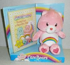Play Along Care Bear CHEER BEAR & BOOK SET Stuffed Plush 2004 *Unused MIB