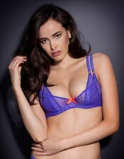 Agent Provocateur REI BRA in PURPLE FRENCH LACE & SILK - 32E - BNWT