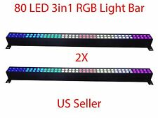 """LOT DJ 80 3in1 RGB LED LIGHTS WALL WASH BAR DMX512 STAGE PARTY SHOW 40"""" 2 PC"""