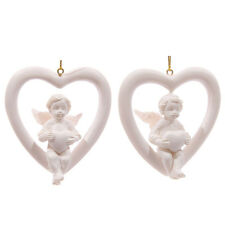 ONE HANGING CHERUB HEART - GIFT - ANGELS - CHERUBS - CUTE - ORNAMENT - FIGURINE