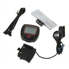 Bicycle Bike Cycling Computer LCD Odometer Speedometer Stopwatch Speed meter E#