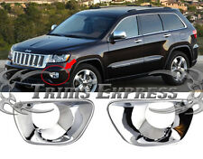 2011-2015 Jeep Grand Cherokee Chrome Foglights Guards Covers Bezel Cover Bumper