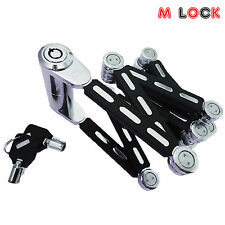 High Security Tubular Bike Lock Folding Bicycle Lock Bike Foldable Lock Fold