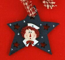 Raggedy Andy Navy Blue Star Ornament Resin Collectible Decor Adorable Ann NEW