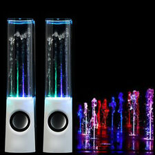 Dancing Water Music Fountain Light Speakers for PC Laptop MP3 Christmas Wihte