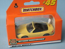 Matchbox Porsche 911 Carrera Cabriolet Cream Body Boxed Toy Model Car