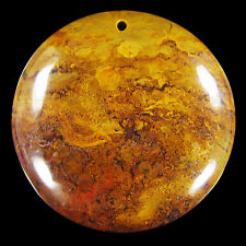 Flame Jasper 47x47x8 mm Pendant bead CJ002002