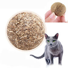 Nature Cat Mint Ball Play Toys Ball Coated With Catnip&Bell Toy For Kitten New